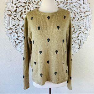 {Wooden Ships} Mini Skull Print Knit Sweater